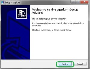appium-installer default settings