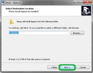 appium installation default