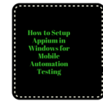 Appium Tutorial - Setup Appium in Windows