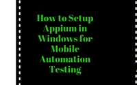 How to automate scroll feature in Appium for Mobile testing in